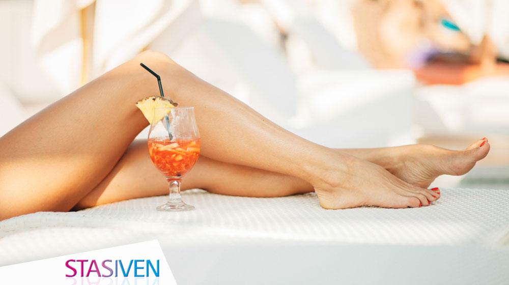 Alcol nel bicchiere, ritenzione idrica nelle gambe