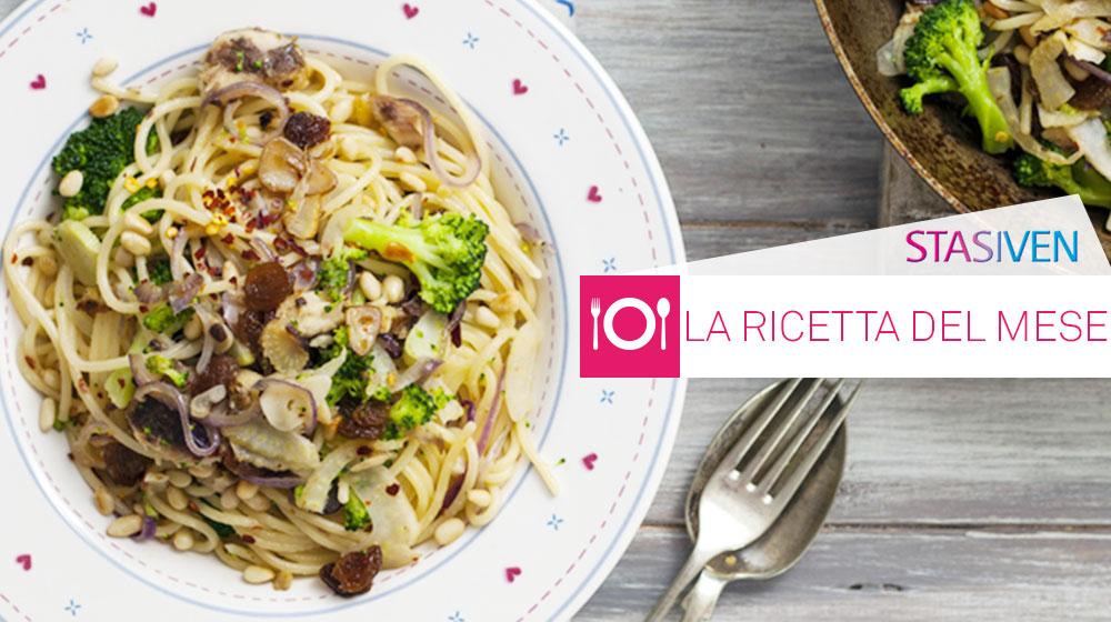 Ricette contro le gambe gonfie: pasta integrale con broccoli e pinoli