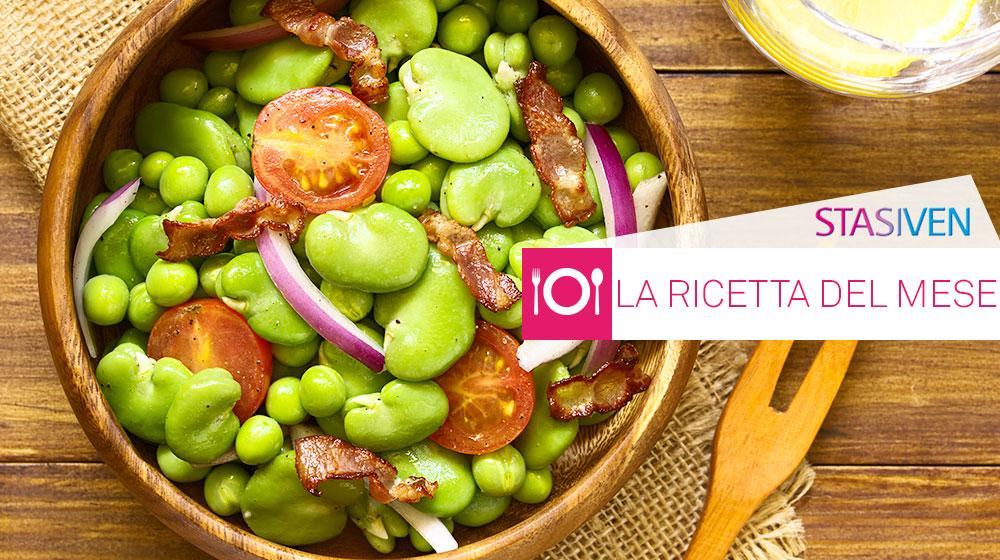 Ricette contro le gambe gonfie: insalata di fave e pomodorini