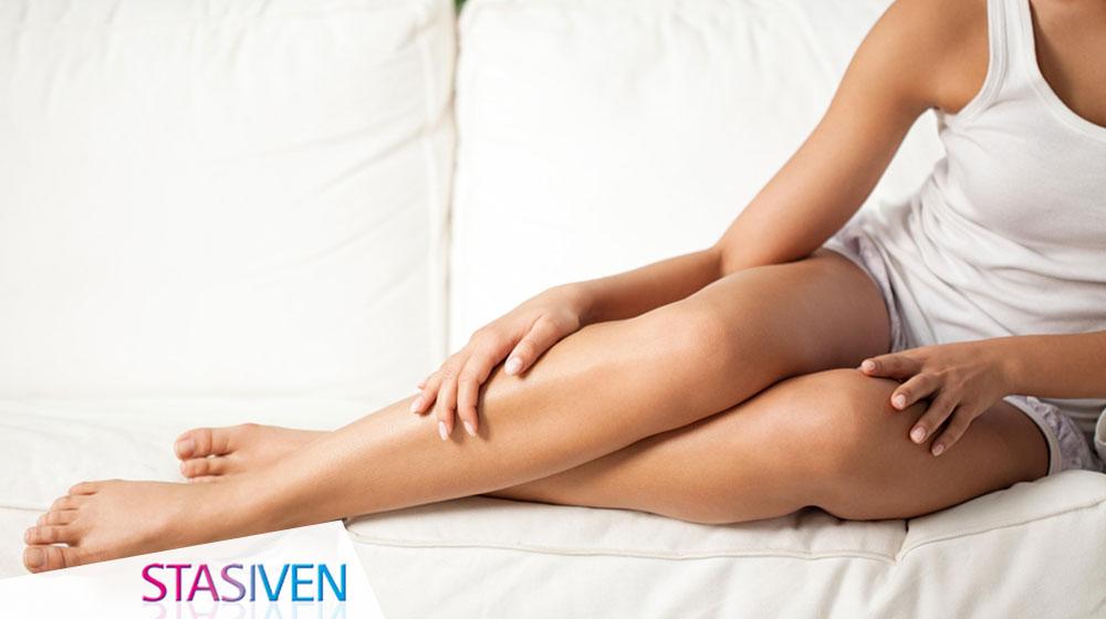 Gambe gonfie e capillari fragili nella donna