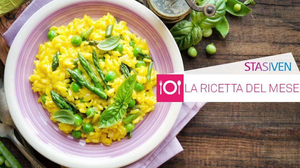 Ricette contro le gambe gonfie: risotto agli asparagi e zafferano